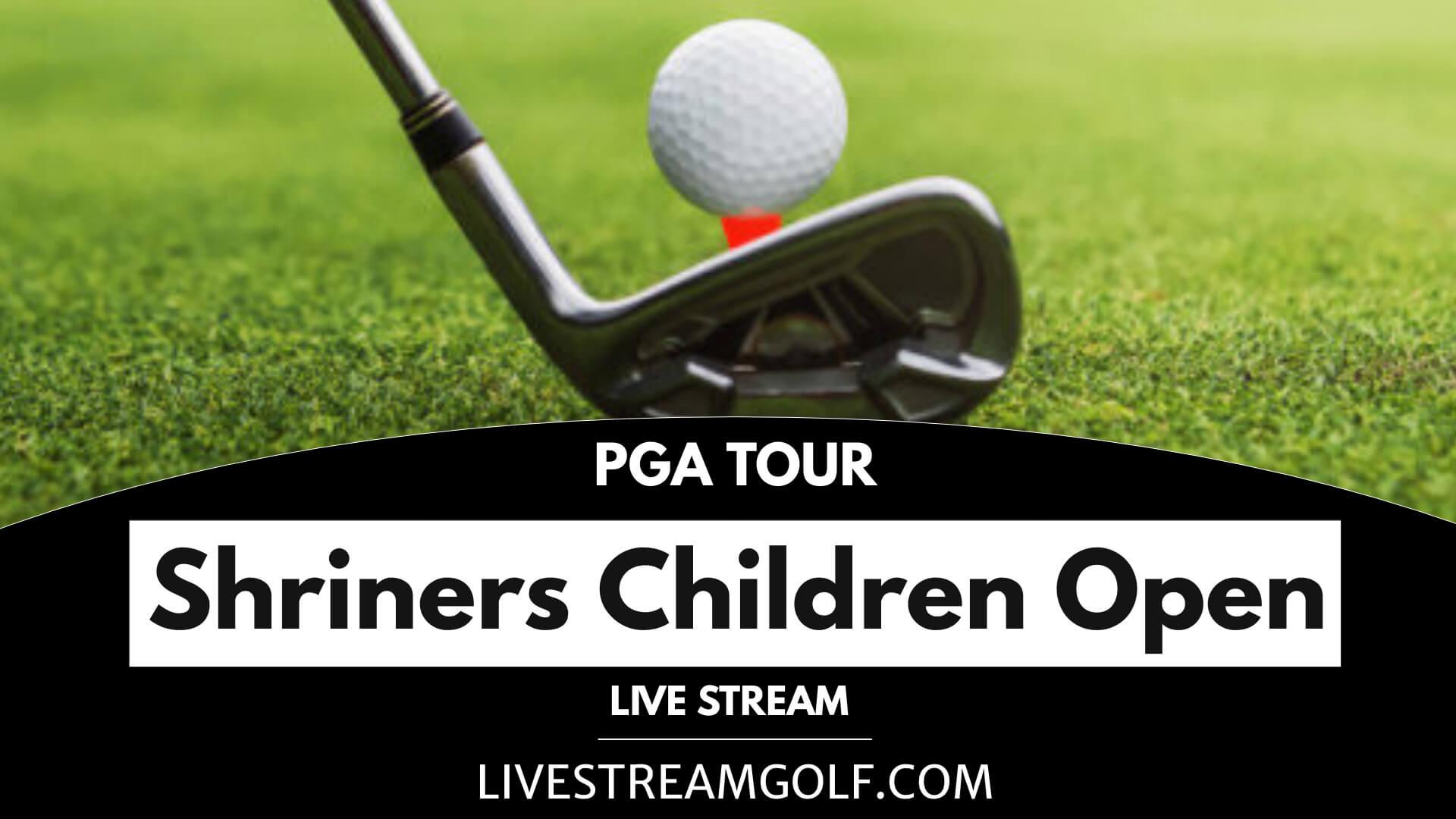 Shriners Children Open Rd 1 Live Stream: PGA Tour 2021